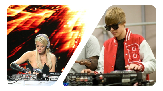 JUSTIN BIEBER AND PARIS HILTON TO FORM BEST 'WORST DJ TEAM' EVER
